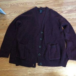 Forever 21 burgundy cardigan